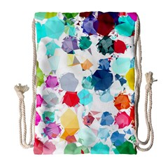 Colorful Diamonds Dream Drawstring Bag (Large)
