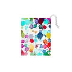 Colorful Diamonds Dream Drawstring Pouches (XS)