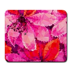 Geometric Magenta Garden Large Mousepads by DanaeStudio
