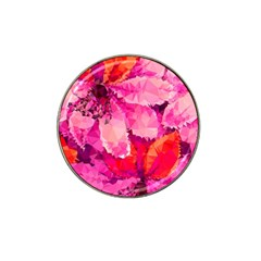 Geometric Magenta Garden Hat Clip Ball Marker (10 Pack) by DanaeStudio