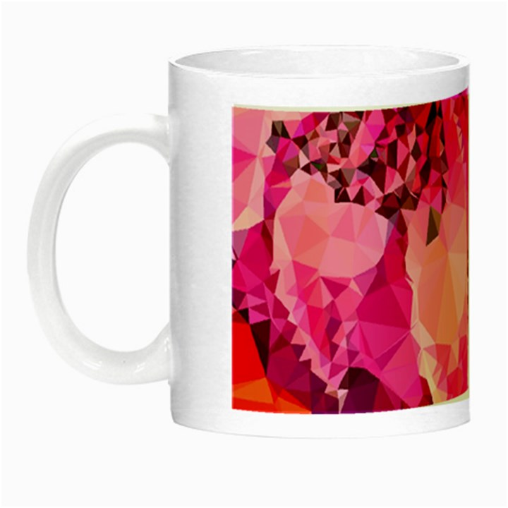Geometric Magenta Garden Night Luminous Mugs