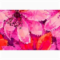 Geometric Magenta Garden Collage Prints by DanaeStudio