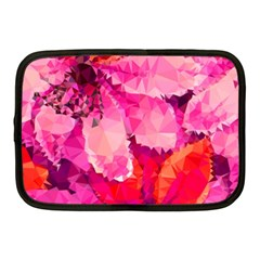 Geometric Magenta Garden Netbook Case (medium)  by DanaeStudio