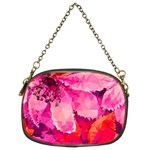 Geometric Magenta Garden Chain Purses (Two Sides)  Back