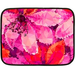 Geometric Magenta Garden Double Sided Fleece Blanket (mini)  by DanaeStudio