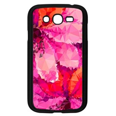 Geometric Magenta Garden Samsung Galaxy Grand Duos I9082 Case (black) by DanaeStudio
