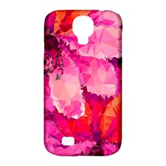 Geometric Magenta Garden Samsung Galaxy S4 Classic Hardshell Case (pc+silicone) by DanaeStudio