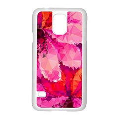 Geometric Magenta Garden Samsung Galaxy S5 Case (white) by DanaeStudio