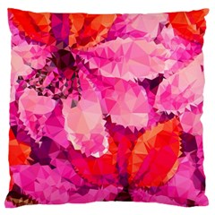 Geometric Magenta Garden Standard Flano Cushion Case (Two Sides)