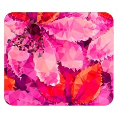Geometric Magenta Garden Double Sided Flano Blanket (Small)