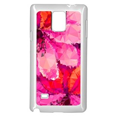 Geometric Magenta Garden Samsung Galaxy Note 4 Case (white) by DanaeStudio