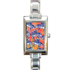 Little Flying Pigs Rectangle Italian Charm Watch by DanaeStudio