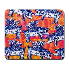 Little Flying Pigs Large Mousepads by DanaeStudio