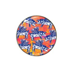 Little Flying Pigs Hat Clip Ball Marker (4 Pack) by DanaeStudio