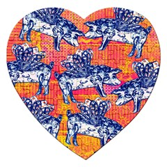 Little Flying Pigs Jigsaw Puzzle (heart)
