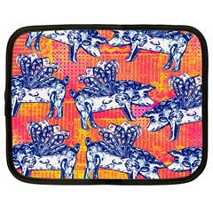 Little Flying Pigs Netbook Case (Large)