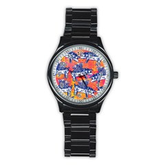 Little Flying Pigs Stainless Steel Round Watch