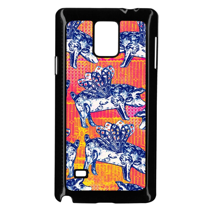 Little Flying Pigs Samsung Galaxy Note 4 Case (Black)