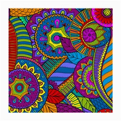 Pop Art Paisley Flowers Ornaments Multicolored Medium Glasses Cloth (2 Side) by EDDArt