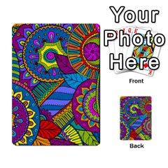 Pop Art Paisley Flowers Ornaments Multicolored Multi Purpose Cards (rectangle)  by EDDArt
