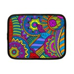 Pop Art Paisley Flowers Ornaments Multicolored Netbook Case (Small)  Front