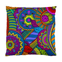 Pop Art Paisley Flowers Ornaments Multicolored Standard Cushion Case (two Sides) by EDDArt