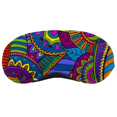 Pop Art Paisley Flowers Ornaments Multicolored Sleeping Masks by EDDArt