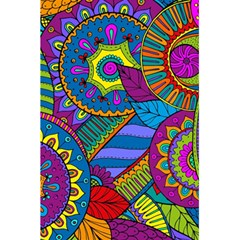 Pop Art Paisley Flowers Ornaments Multicolored 5 5  X 8 5  Notebooks by EDDArt