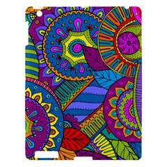 Pop Art Paisley Flowers Ornaments Multicolored Apple Ipad 3/4 Hardshell Case by EDDArt