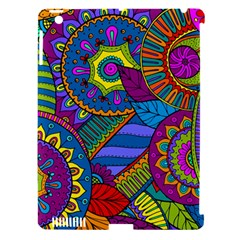 Pop Art Paisley Flowers Ornaments Multicolored Apple Ipad 3/4 Hardshell Case (compatible With Smart Cover) by EDDArt