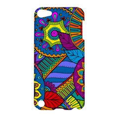 Pop Art Paisley Flowers Ornaments Multicolored Apple Ipod Touch 5 Hardshell Case by EDDArt
