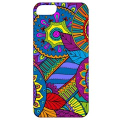 Pop Art Paisley Flowers Ornaments Multicolored Apple Iphone 5 Classic Hardshell Case by EDDArt