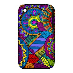 Pop Art Paisley Flowers Ornaments Multicolored Apple Iphone 3g/3gs Hardshell Case (pc+silicone) by EDDArt