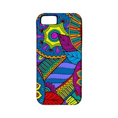 Pop Art Paisley Flowers Ornaments Multicolored Apple Iphone 5 Classic Hardshell Case (pc+silicone) by EDDArt