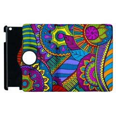 Pop Art Paisley Flowers Ornaments Multicolored Apple Ipad 2 Flip 360 Case by EDDArt