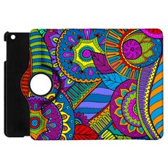 Pop Art Paisley Flowers Ornaments Multicolored Apple Ipad Mini Flip 360 Case by EDDArt