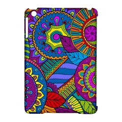 Pop Art Paisley Flowers Ornaments Multicolored Apple Ipad Mini Hardshell Case (compatible With Smart Cover) by EDDArt