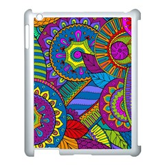 Pop Art Paisley Flowers Ornaments Multicolored Apple Ipad 3/4 Case (white)