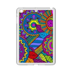 Pop Art Paisley Flowers Ornaments Multicolored Ipad Mini 2 Enamel Coated Cases by EDDArt