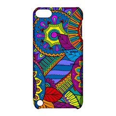 Pop Art Paisley Flowers Ornaments Multicolored Apple Ipod Touch 5 Hardshell Case With Stand by EDDArt