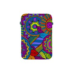 Pop Art Paisley Flowers Ornaments Multicolored Apple Ipad Mini Protective Soft Cases by EDDArt