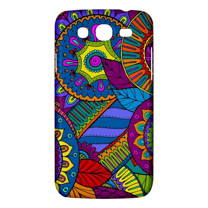 Pop Art Paisley Flowers Ornaments Multicolored Samsung Galaxy Mega 5.8 I9152 Hardshell Case