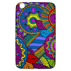 Pop Art Paisley Flowers Ornaments Multicolored Samsung Galaxy Tab 3 (8 ) T3100 Hardshell Case  by EDDArt