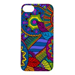 Pop Art Paisley Flowers Ornaments Multicolored Apple Iphone 5s/ Se Hardshell Case by EDDArt