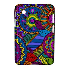 Pop Art Paisley Flowers Ornaments Multicolored Samsung Galaxy Tab 2 (7 ) P3100 Hardshell Case  by EDDArt