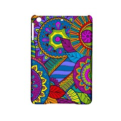 Pop Art Paisley Flowers Ornaments Multicolored Ipad Mini 2 Hardshell Cases by EDDArt