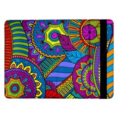 Pop Art Paisley Flowers Ornaments Multicolored Samsung Galaxy Tab Pro 12 2  Flip Case