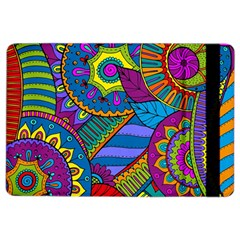 Pop Art Paisley Flowers Ornaments Multicolored Ipad Air 2 Flip by EDDArt