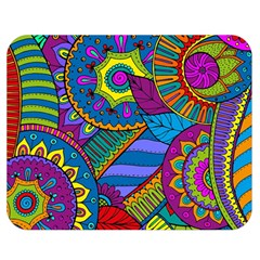 Pop Art Paisley Flowers Ornaments Multicolored Double Sided Flano Blanket (medium)  by EDDArt