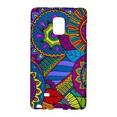 Pop Art Paisley Flowers Ornaments Multicolored Galaxy Note Edge by EDDArt